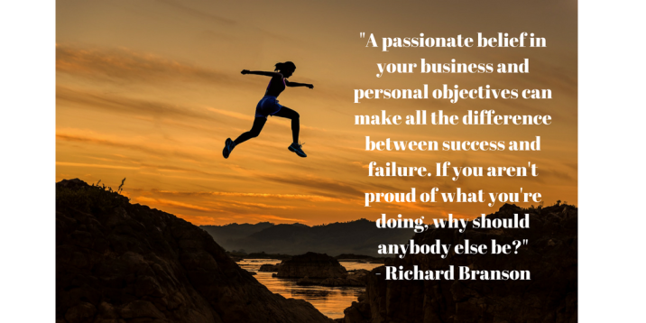 Passion & objectives - Richard Branson quote